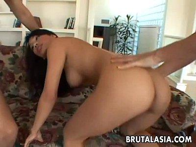 Thai asian cuttie has a double decker on her ass 9