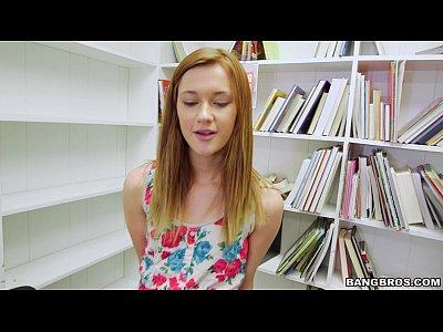 Tiny Redhead Sucks Your Dick In The Library POV Sex Porn