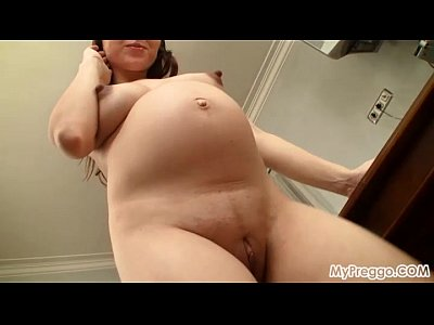 Pregnant anya bares it all