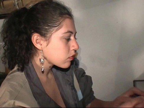 Girl peeing close to camra