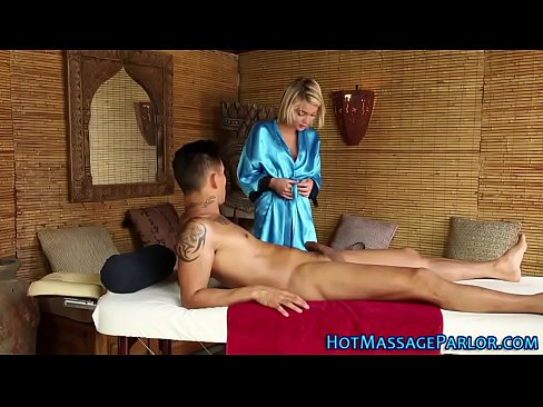 Petite masseuse sucking