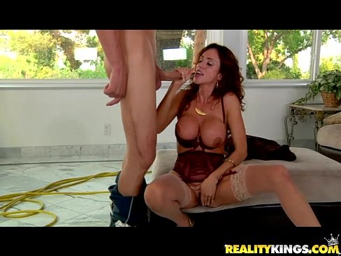 Hot British MILF Jessica Touches Her Sweet Pussy   Pornhub com Milfs big tits in see through panties