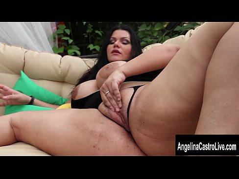 angelina castro squirt Latina BBW Pornstar Angelina Castro Swallows BBC in Backyard.