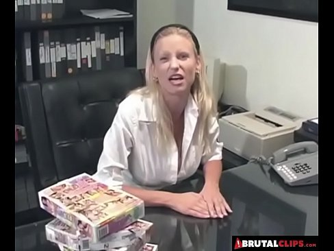 Brutalclips bitch is ecstatic at the sight of so many cock