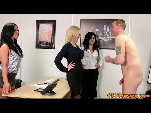 Real spex schoolgirl jerking dick with milf 7