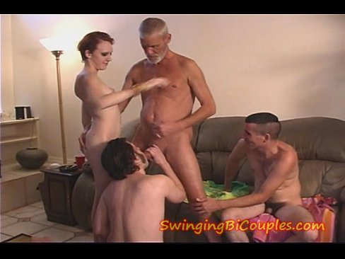 Hot bi swinging