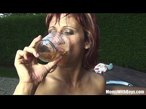 Mature cum drinkers