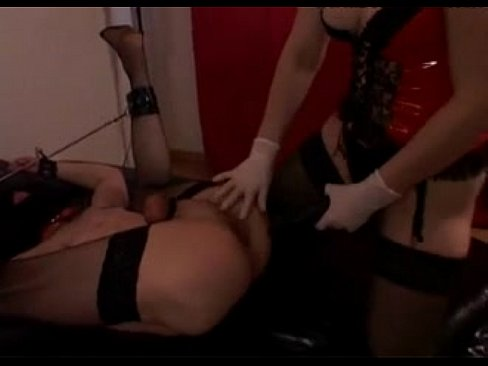 Sissy moaning training with dildo