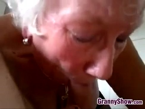 Old ladies swallow cum