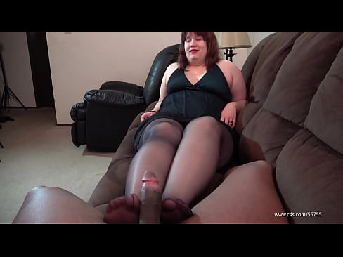 Pantyhose blowjob denial tube