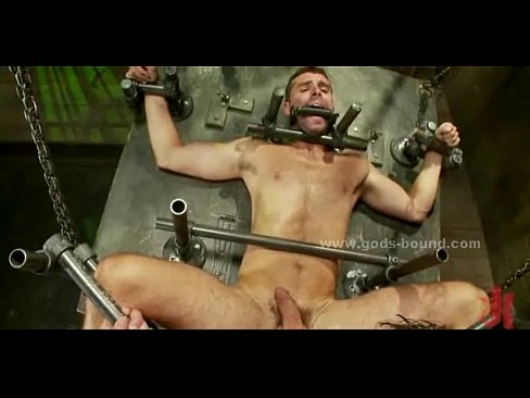 Men in bondage and forced sex