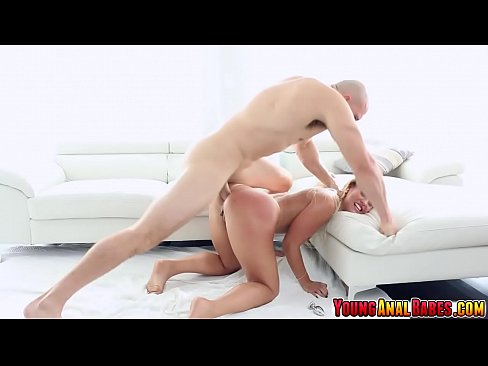 Kelsi Monroe gets her oily ass fucked by a huge cock