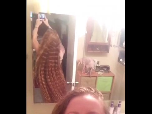 54 inches of curly red hair! Swaying in slow motion ?
