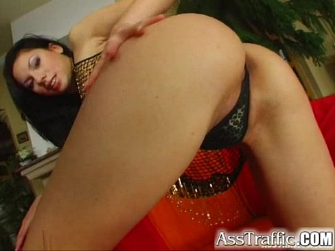 Ass Traffic Exotic brunette uses toys in her butt gets ass fucked